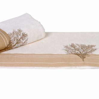 Полотенце для ванной Hobby Home Collection INFINITY хлопковая махра (кремовый)
