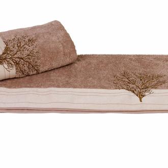 Полотенце для ванной Hobby Home Collection INFINITY хлопковая махра (светло-коричневый)