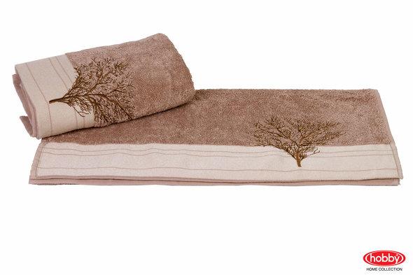 Полотенце для ванной Hobby Home Collection INFINITY хлопковая махра (светло-коричневый) 70*140, фото, фотография