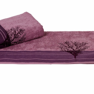 Полотенце для ванной Hobby Home Collection INFINITY хлопковая махра (фиолетовый)