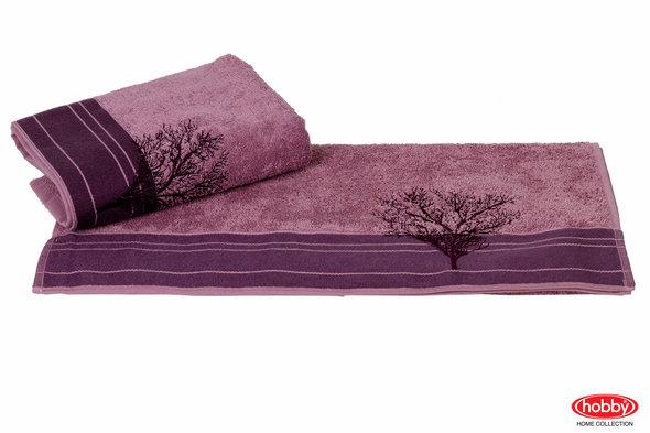 Полотенце для ванной Hobby Home Collection INFINITY хлопковая махра (фиолетовый) 50*90, фото, фотография