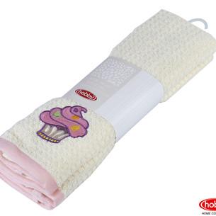 Набор кухонных полотенец Hobby Home Collection CANDY хлопковая махра розовый, кремовый 40х60 2 шт.