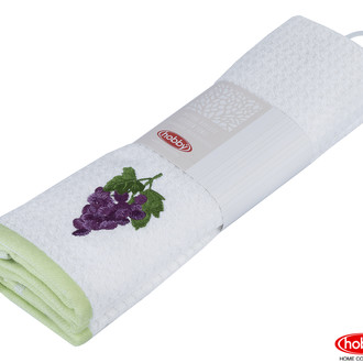 Набор кухонных полотенец Hobby Home Collection CANDY хлопковая махра (зелёный, белый)
