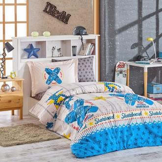 Постельное белье Hobby Home Collection SKATEBOARD хлопковый поплин синий