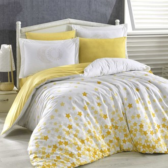 Комплект постельного белья Hobby Home Collection STAR'S хлопковый поплин (жёлтый)