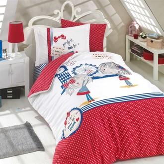 Комплект постельного белья Hobby Home Collection SMILE хлопковый поплин (красный)