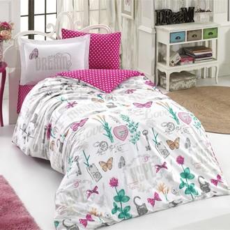 Комплект постельного белья Hobby Home Collection ROSELLA хлопковый поплин (фуксия)