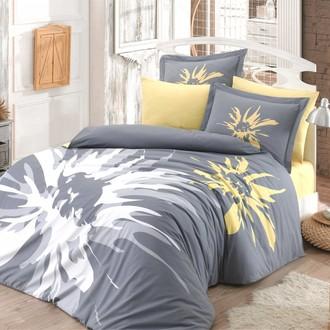 Комплект постельного белья Hobby Home Collection ROMANA хлопковый поплин (серый)