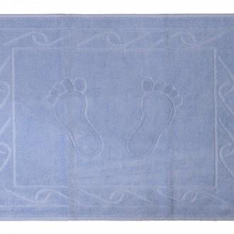 Коврик для ванной Hobby Home Collection HAYAL хлопковая махра (светло-голубой)