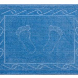 Коврик для ванной Hobby Home Collection HAYAL хлопковая махра тёмно-голубой 50х70