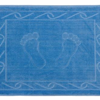 Коврик для ванной Hobby Home Collection HAYAL хлопковая махра тёмно-голубой