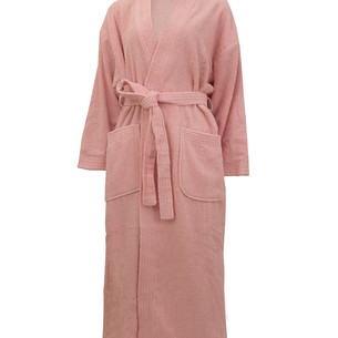 Халат женский Hobby Home Collection SMART хлопковая махра розовый M
