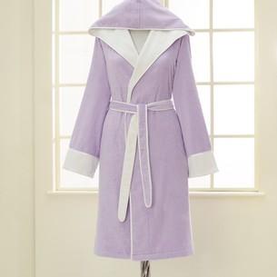 Халат женский Soft Cotton NEHIR хлопковая/бамбуковая махра лиловый L