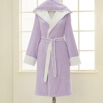Халат женский Soft Cotton NEHIR хлопковая/бамбуковая махра лиловый