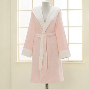 Халат женский Soft Cotton NEHIR хлопковая/бамбуковая махра розовый L
