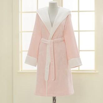 Халат женский Soft Cotton NEHIR хлопковая/бамбуковая махра розовый