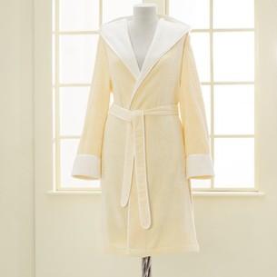 Халат женский Soft Cotton NEHIR хлопковая/бамбуковая махра жёлтый L