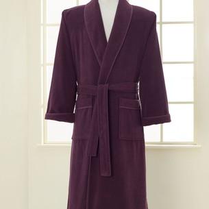 Халат мужской Soft Cotton LORD хлопковая махра фиолетовый XL