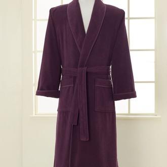 Халат мужской Soft Cotton LORD хлопковая махра фиолетовый M