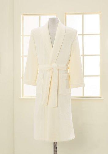 Халат мужской Soft Cotton LORD хлопковая махра кремовый M, фото, фотография