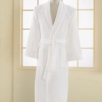 Халат мужской Soft Cotton DELUXE хлопковая махра белый
