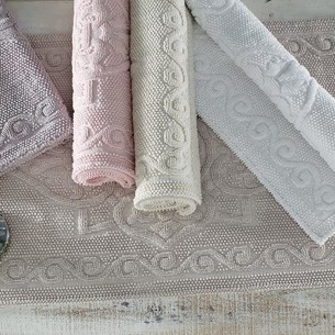 Набор ковриков 2 пр. Gelin Home SONIL хлопковая махра пудра 45х60, 60х100