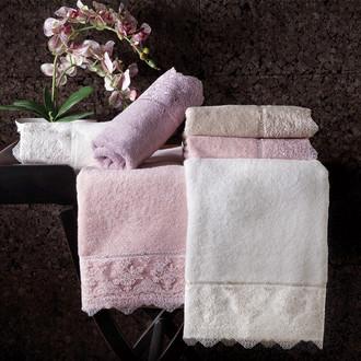 Подарочный набор полотенец для ванной 2 пр. Tivolyo Home MINOSA хлопковая махра бежевый