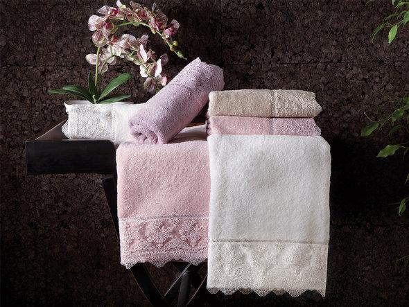 Подарочный набор полотенец для ванной 2 пр. Tivolyo Home MINOSA хлопковая махра (бежевый), фото, фотография