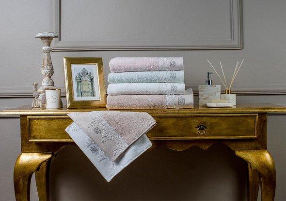Подарочный набор полотенец для ванной 3 пр. Tivolyo Home JULIET хлопковая махра (кремовый), фото, фотография