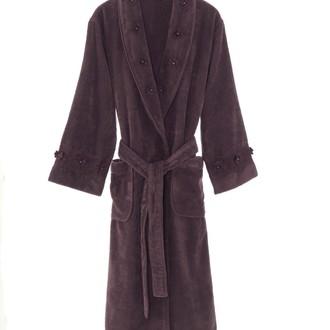 Халат мужской Soft Cotton YONCA хлопковая махра фиолетовый