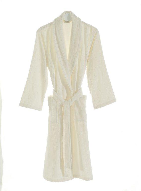 Халат мужской Soft Cotton SORTIE хлопковая махра (экрю) XL, фото, фотография