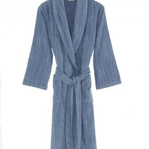 Халат мужской Soft Cotton SORTIE хлопковая махра голубой M