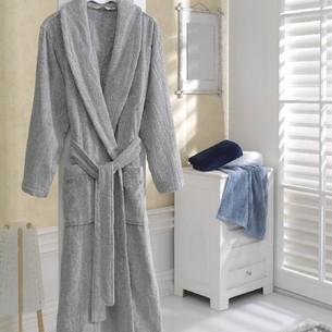 Халат мужской Soft Cotton SORTIE хлопковая махра серый S