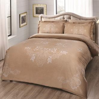 Комплект постельного белья TAC DELUX LUMINA хлопковый сатин deluxe (золотистый)