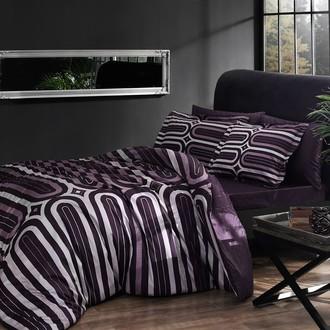 Комплект постельного белья TAC DELUX CLOUD хлопковый сатин deluxe (фиолетовый)