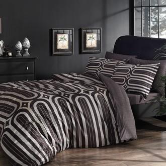 Комплект постельного белья TAC DELUX CLOUD хлопковый сатин deluxe (коричневый)