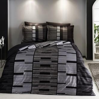 Комплект постельного белья TAC DELUX JOURNEY хлопковый сатин deluxe (серый)