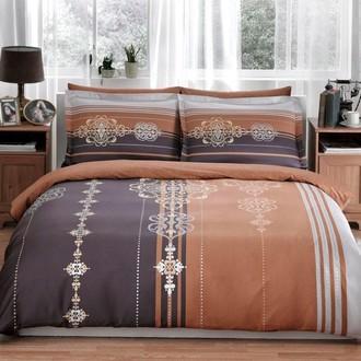 Комплект постельного белья TAC DELUX RODIN хлопковый сатин deluxe (коричневый)