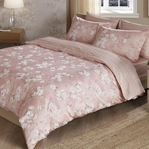 Постельное белье TAC DELUX SHADOW хлопковый сатин deluxe светло-розовый евро