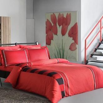 Комплект постельного белья TAC DELUX MABEL хлопковый сатин deluxe (красный)