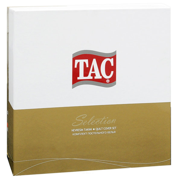 Постельное белье TAC DELUX MABEL хлопковый сатин deluxe красный семейный, фото, фотография