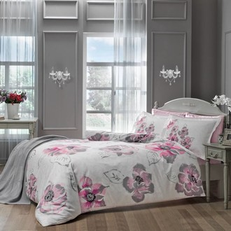 Комплект постельного белья TAC DELUX PEONY хлопковый сатин deluxe (розовый)