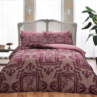 Комплект постельного белья TAC DELUX GRANT хлопковый сатин deluxe (бордовый)