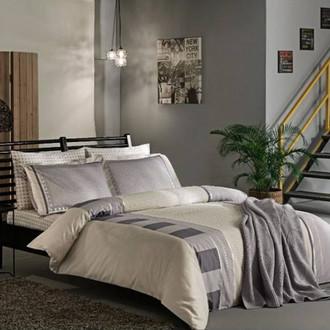 Комплект постельного белья TAC DELUX MABEL хлопковый сатин deluxe (серый)