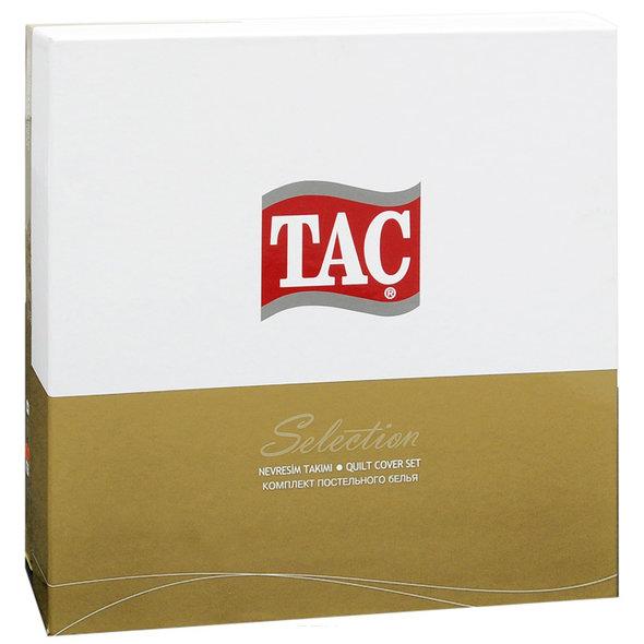 Постельное белье TAC DIGITAL BLANCHE хлопковый сатин (пудра) семейный, фото, фотография