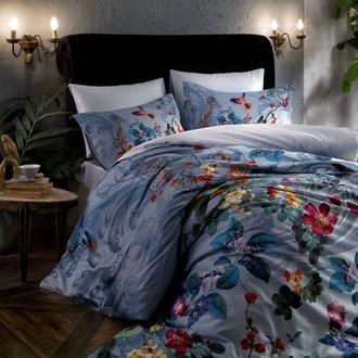 Комплект постельного белья TAC DIGITAL JUNE хлопковый сатин (голубой)