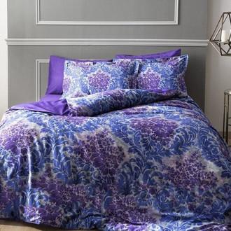 Комплект постельного белья TAC DIGITAL SOLANDIS хлопковый сатин (фиолетовый+пурпурный)