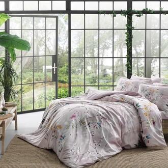Комплект постельного белья TAC DIGITAL GLIENN хлопковый сатин (лиловый)