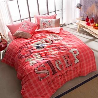 Комплект подросткового постельного белья TAC GOOD NIGHT хлопковый ранфорс (розовый)
