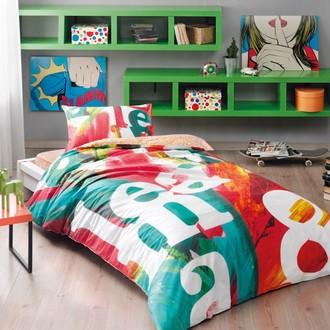 Комплект подросткового постельного белья TAC POP ART хлопковый ранфорс (оранжевый)